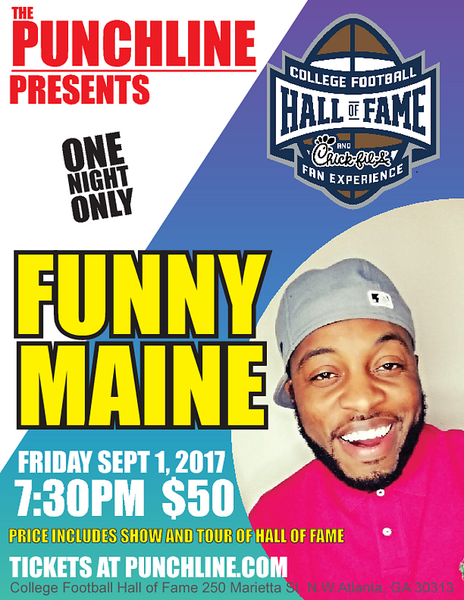 Punchline Presents: Funny Maine @ College Football Hall of Fame